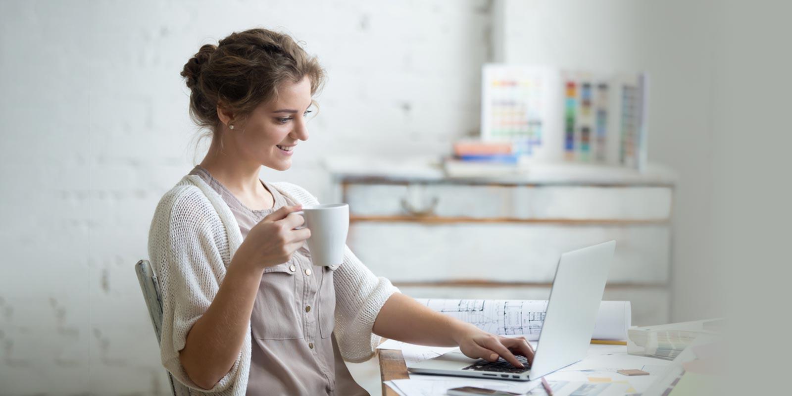 Entrepreneur reviewing her business metrics