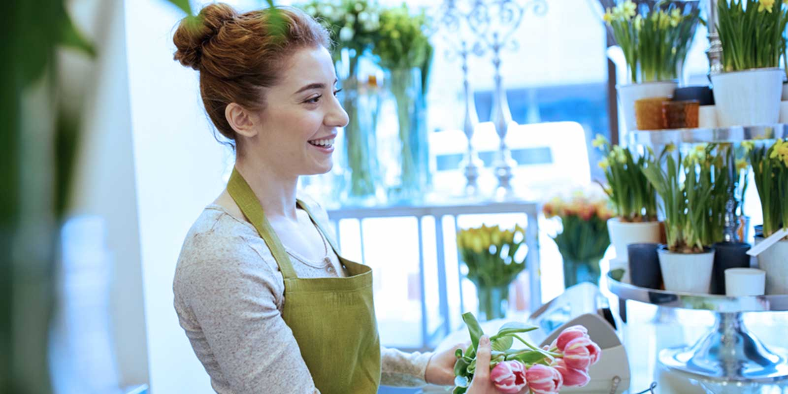 Florist serving clients showing value of branded photography